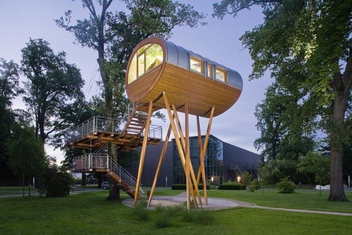 World of Living–park of the firm Weberhaus in Rheinau-Linx, near the french town Strasbourg.
