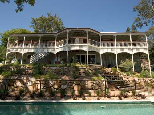 Back of home with pool area: Burdekin Garth Chapman Traditional Queenslander