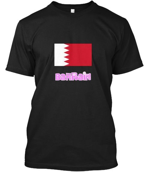 Bahrain Flag Pink Flower Design Black T-Shirt Front - This is the perfect gift for someone who loves Bahrain. Thank you for visiting my page (Related terms: I Heart Bahrain,Bahrain,Bahraini,Bahrain Travel,I Love My Country,Bahrain Flag, Bahrain Map,Bahrain  #Bahrain, #Bahrainshirts...)