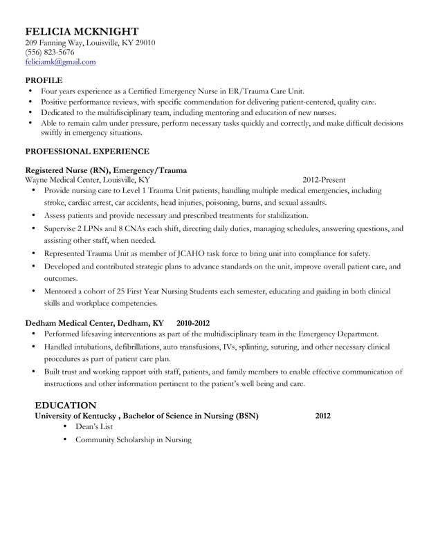 nurse resume builder