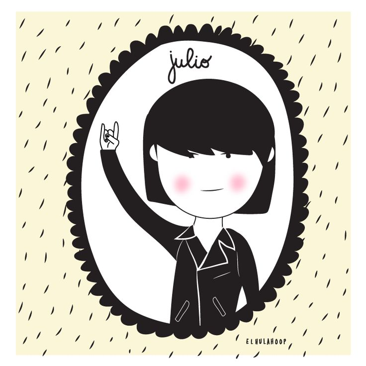 #julio #july #rockday #ilustracion
