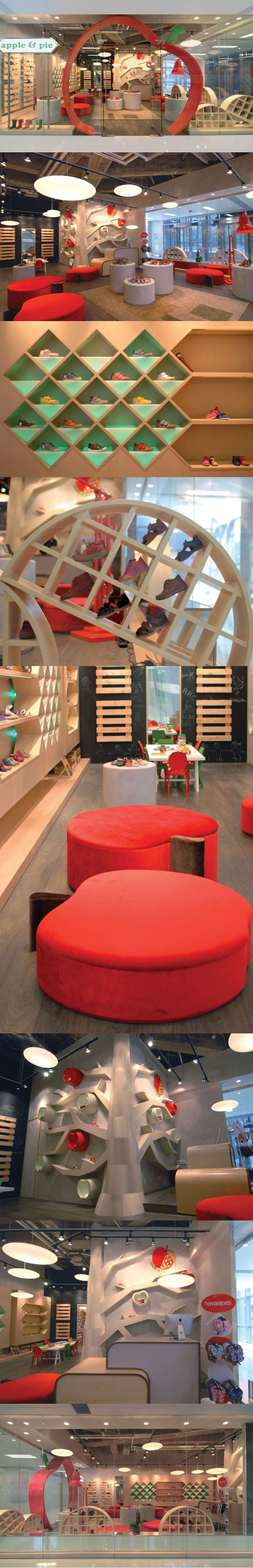 apple & pie children-shoe boutique by Stefano Tordiglione Design, Hong Kong.