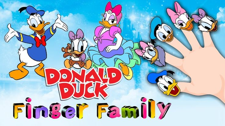 Donald Duck Finger Family Song | Finger Family Song DISNEY DONALD DUCK |...