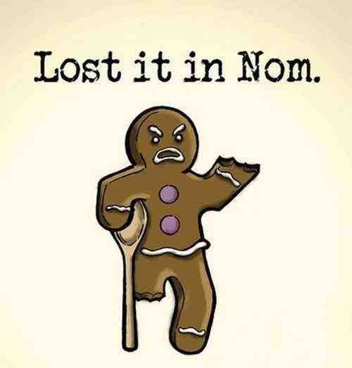 """So stupid funny.  I hate the whole """"Nom nom"""" thing, it would be gross if people sounded like that, but this is funny."""