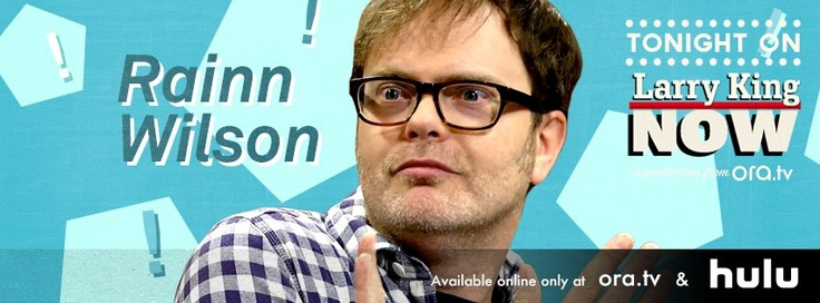 "As ""The Office"" comes to a close, Rainn Wilson says goodbye to Dwight Schrute, the character that put him in the spotlight, and reveals secrets from the final episodes. Plus, Larry goes on a spiritual journey with Rainn & his SoulPancake project. Watch this full episode of #LarryKingNow on Ora TV & Hulu: http://on.ora.tv/WsWX1U"