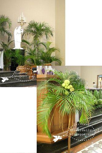 Palm Sunday Altar Arrangements Palm Sunday Church Flower