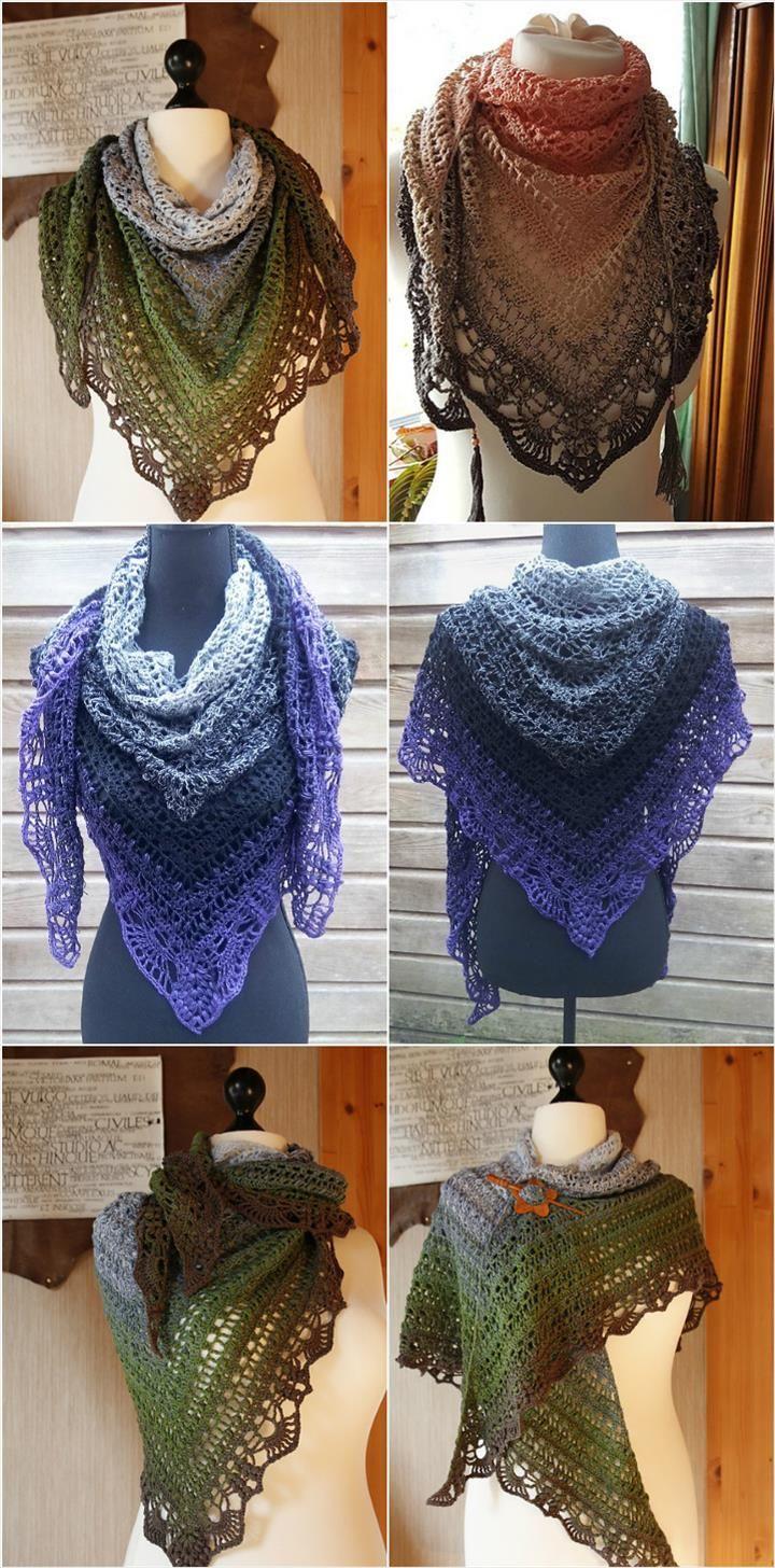 Crochet Schal Quiraing Popcorn Stitch Shawl - 10 FREE Crochet Shawl Patterns for Women's | 101 Crochet