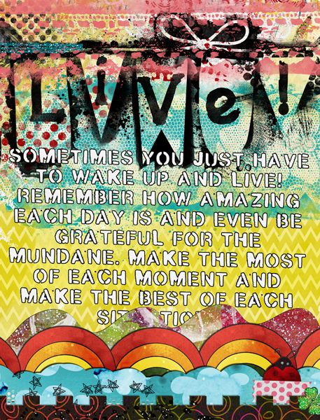 Live Art Journal Page by Tangie Baxter