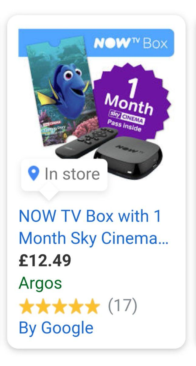Nice Christmas present concept for anybody who hasn't obtained Sky TV Now TV field plus 1 mon...