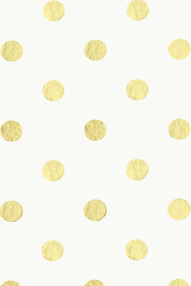 Gold/Cream Polka Dot iPhone Wallpaper by elizabethmaryy.deviantart.com on @deviantART
