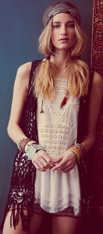 Boho Chic. i need more clothes like this...