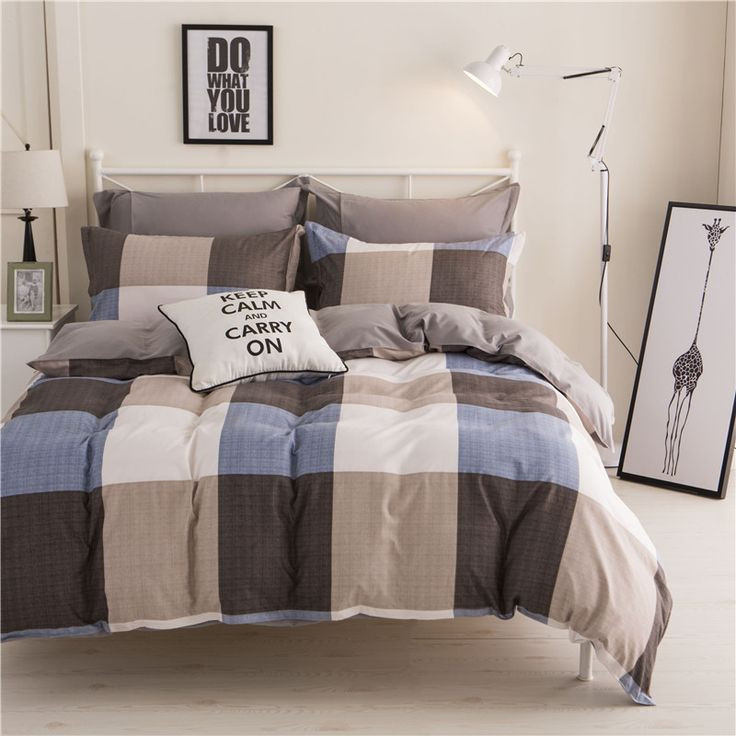 cara carle bed linen 4pcs cotton bedding sets king queen twin size bedspread duvet cover bed - Twin Bed Sheets