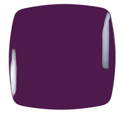 shop staples for renaissance plastic rounded square china like plate in purple