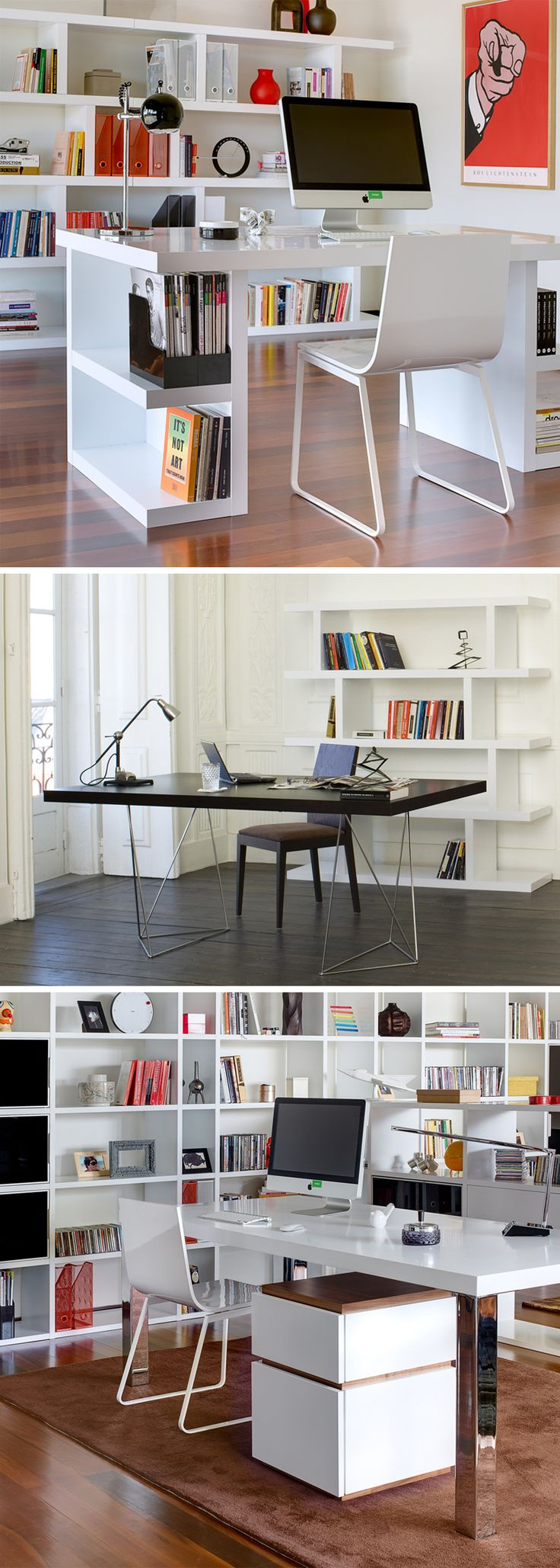 Best 25 contemporary home offices ideas on pinterest white desk in home office classic home - Creative ideas office furniture ...