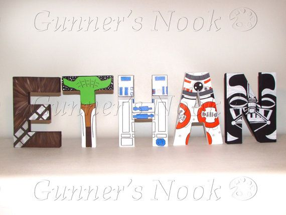 FLASH SALE Star Wars Letters Price Per Letter by GunnersNook