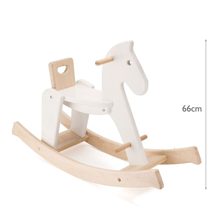 Buy The Little White Company > Toys > Wooden Rocking Horse from The White Company