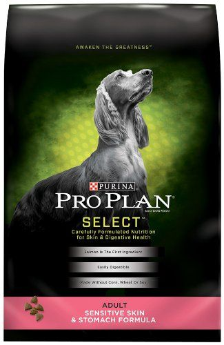 Purina Pro Plan Dry Adult Dog Food, Sensitive Skin and Stomach Formula, 33-Pound Bag $41.99 (save $14.00) + Free Shipping
