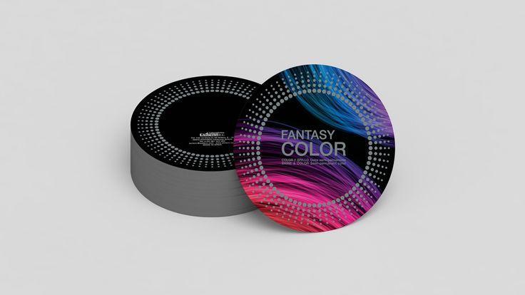 Diseño de carta de Color para tinte de pelo semi-permanente.