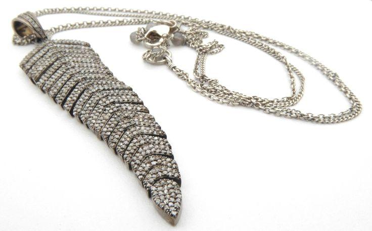 Leaf Diamond Pendant Necklace