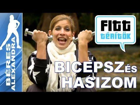Béres Alexandra - Bicepsz és hasizom edzése (Fitt-térítők sorozat)