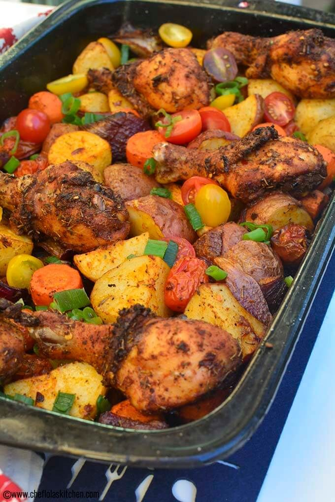Oven Baked Chicken And Potatoes Recipe