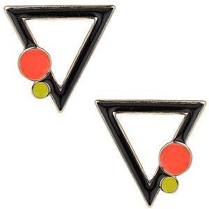TOPSHOP Bauhaus Triangle Stud Earrings