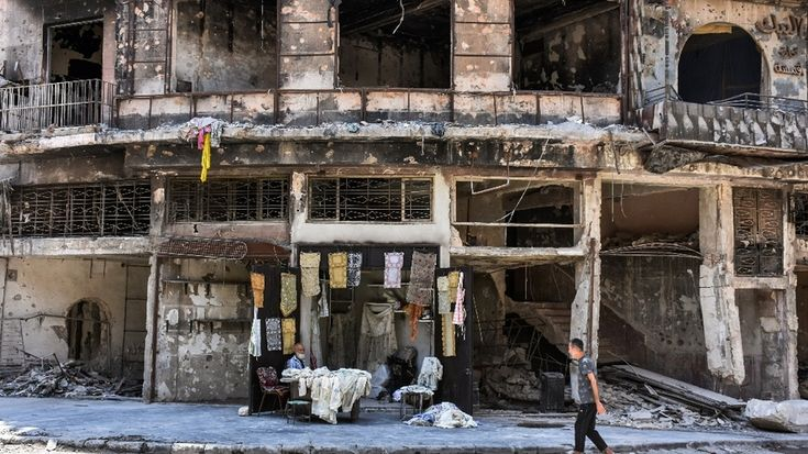 In rubble of Aleppo souk tablecloth shop makes solitary comeback https://www.al-monitor.com/pulse/contents/afp/2017/12/syria-conflict-aleppo-market-history-heritage.html