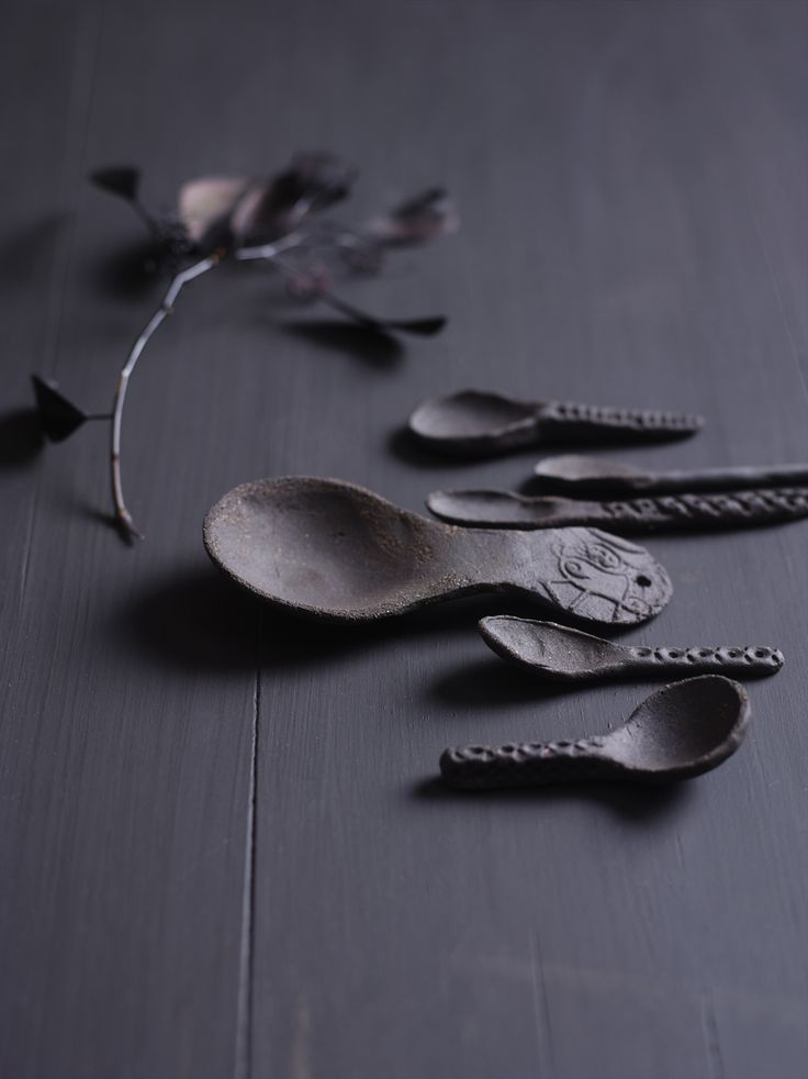 Hand shaped ceramic spoons by Ragnhild Wik Photo: Siren Lauvdal Styling: Kirsten Visdal