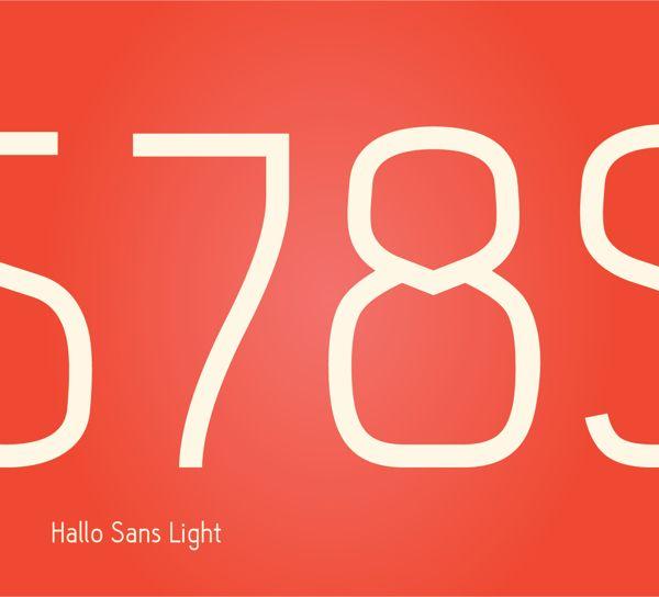Hallo Sans, Free typeface by Fredrik Staurland, via Behance