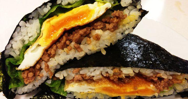 栄養満点☆甘辛肉のおにぎらず by フレオ [クックパッド] 簡単おいしいみんなのレシピが234万品