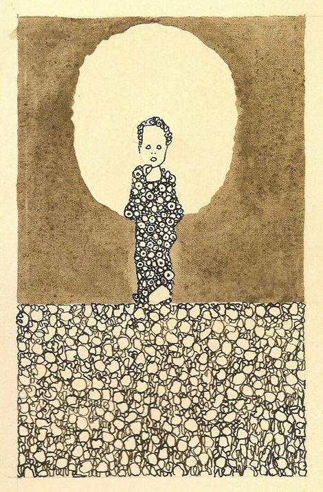 Egon Schiele, Child with halo in a flower meadow, 1909 on ArtStack #egon-schiele #art