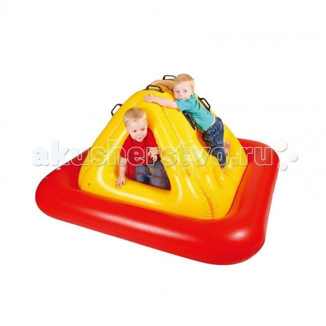 """Upright Сухой бассейн Скалолаз  Сухой надувной бассейн """"Скалолаз"""" подходит как для игр в помещении, так и для отдыха детей на даче и за городом.  Сама конструкция надувная, так что любые повреждения и травмы об её углы исключены. Можете смело позволить ребёнку резвиться вдоволь не переживая за его безопасность.  Размер: 195x195x85 см."""