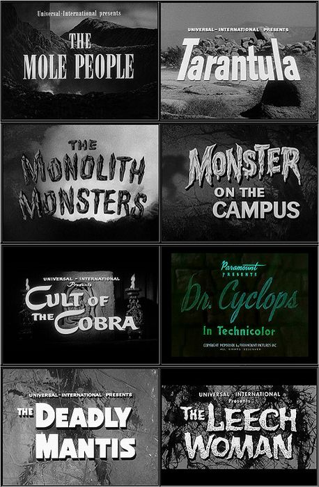 Black & White Horror: take a chance and show a few of these pre-Halloween and if the students laugh -great! (Ali)
