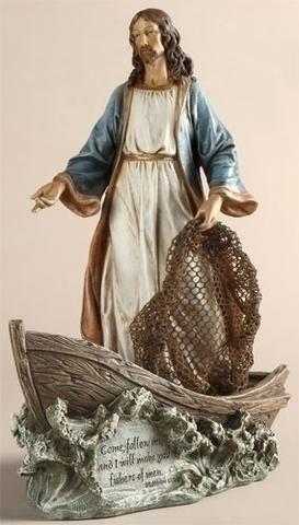 Jesus Christ the Fisherman in Boat Figure Joseph Studio Exclusive
