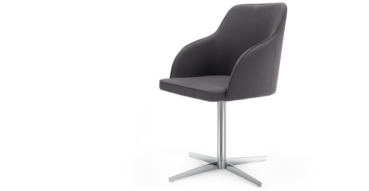 Keira Office Chair, Lead Grey
