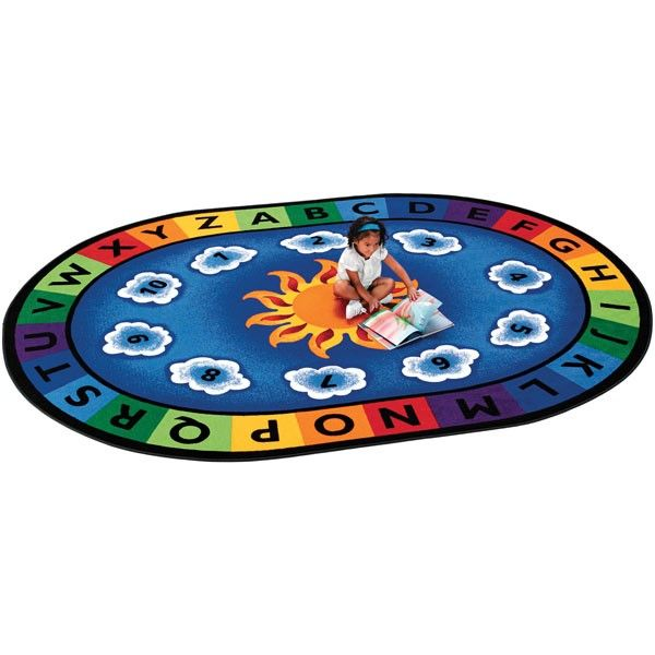 """Lakeshore Learning Rug: Sunny Day Learn & Play Carpet - 6'9"""" X 9'5"""""""