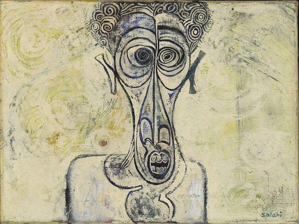 'Self-Portrait of Suffering' (1961) by Sudanese artist Ibrahim El-Salahi (b.1930). via the Tate