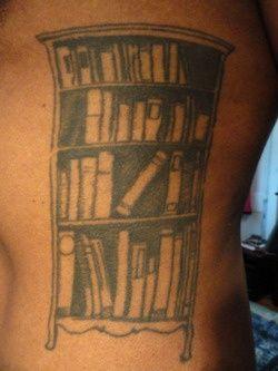 Bookshelf tattoo <3
