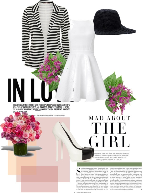 """Black & White for a tea time"" by sara-biondi on Polyvore"