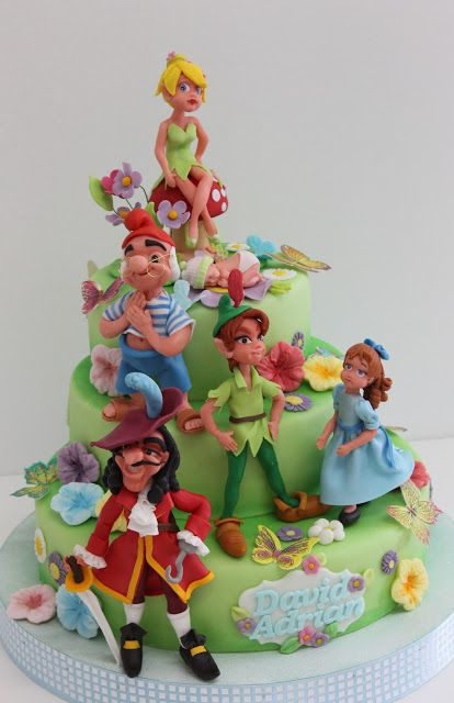 viorica's cakes: Tort botez Peter Pan