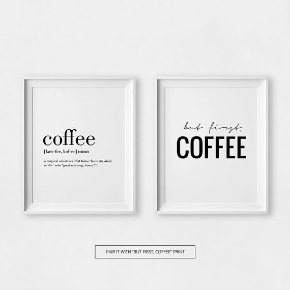 Coffee Printable Coffee Quotes Coffee Lovers Gift by printabold