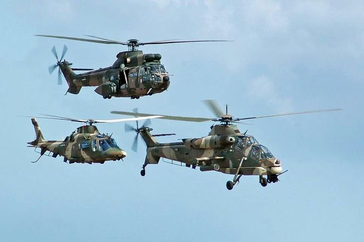 SAAF Oryx Rooivalk and A109