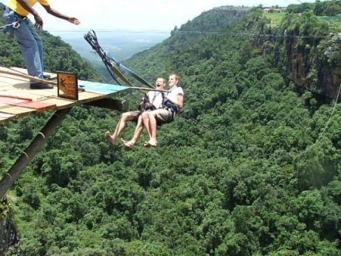 Graskop Falls, The big Swing n Zipline, Mpumalanga