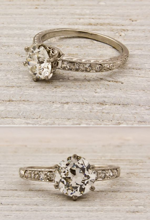 Absolutely gorgeous. Nothing more beautiful than antique vintage. [Antique Wedding Rings-beautiful rings for women-2013]