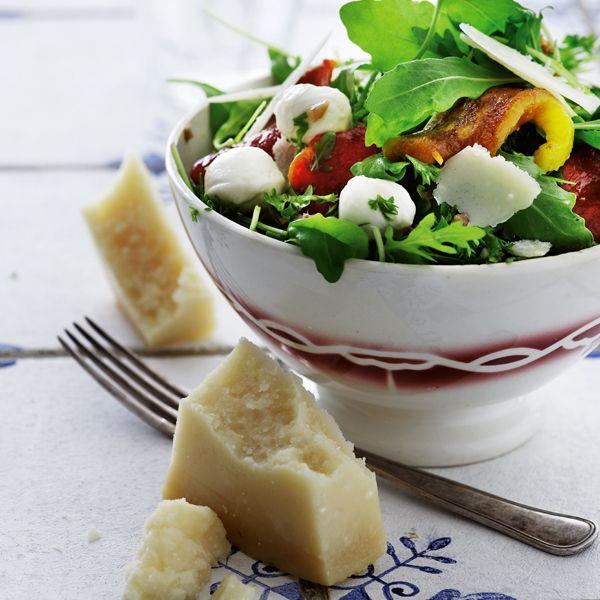Salat med grillet peberfrugt