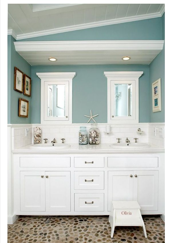 Sherwin Williams Ebbtide - this is the color we painted the girls bathroom.