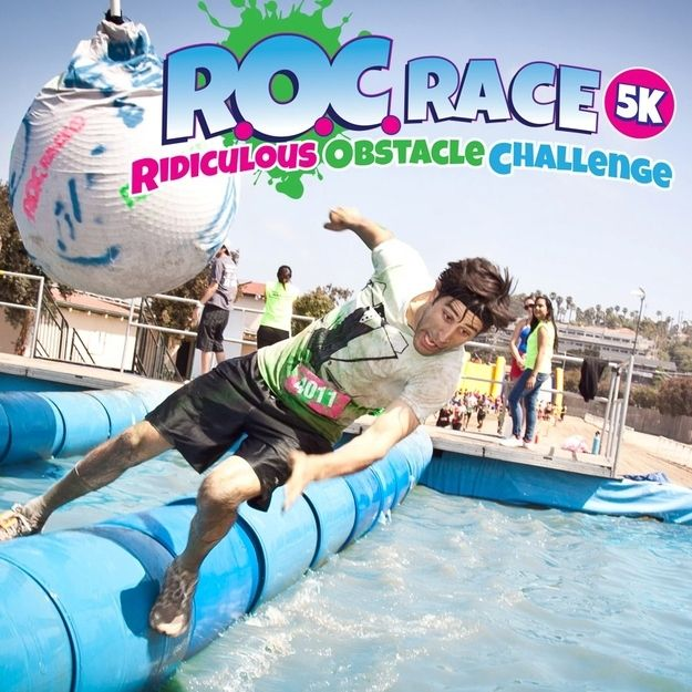 The R.O.C. Race | 15 Themed Races That You'll Actually Want To Run- The Ridiculous Obstacle Challenge 5k is a game show-inspired obstacle run featuring 12 larger than life obstacles including the infamous Wrecking Ball and the World's Largest Inflatable Water Slide.