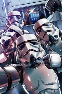 Bora lá tirar uma selfie enquanto o Vader não está a ver!!!