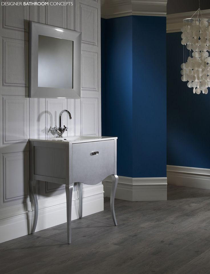 Art Exhibition The Provence freedstanding bathroom furniture collection is cool crisp and sleek There us everything within