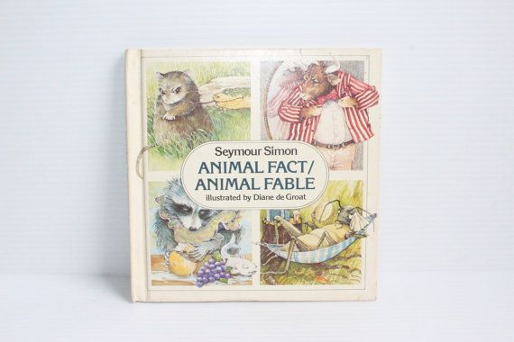 ANIMAL FACT/Animal FABLE Book, Vintage Story book for child,1979 Vintage Hard Back Book, Science book for children, fables for children